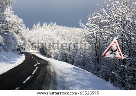 cold road - stock photo