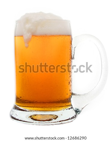 Cold tasty beer in a mug - stock photo