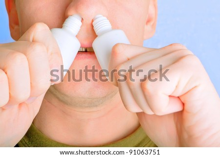 cold virus, sinusitis - stock photo
