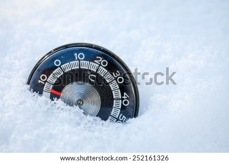 Cold weather low temperature concept - stock photo
