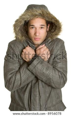 Cold Winter Man - stock photo
