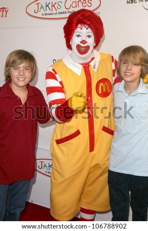 Cole Sprouse and Dylan Sprouse  at Camp Ronald McDonald's 16th Annual Family Halloween Carnival. Universal Studios, Universal City, CA. 10-26-08 - stock photo
