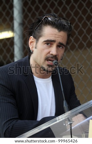 Colin Farrell at the Donald Sutherland Star on the Hollywood Walk of Fame Ceremony, Hollywood Blvd, Hollywood, CA. 01-26-11