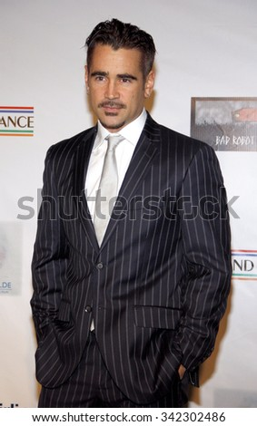 """Colin Farrell at the 7th Annual """"Oscar Wilde: Honoring The Irish In Film"""" Pre-Academy Awards Event held at the Bad Robot, California, United States on February 23, 2012. - stock photo"""