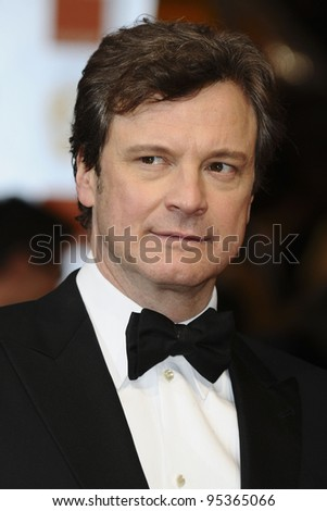 Colin Firth arriving for the BAFTA Film Awards 2012 at the Royal Opera House, Covent Garden, London. 12/02/2012  Picture by: Steve Vas / Featureflash
