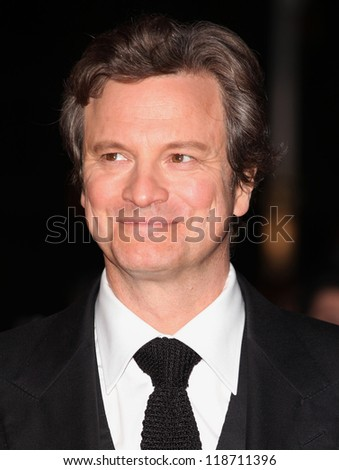 Colin Firth arriving for the World Premiere of Gambit, at the Empire Leicester Square, London. 07/11/2012 Picture by: Alexandra Glen