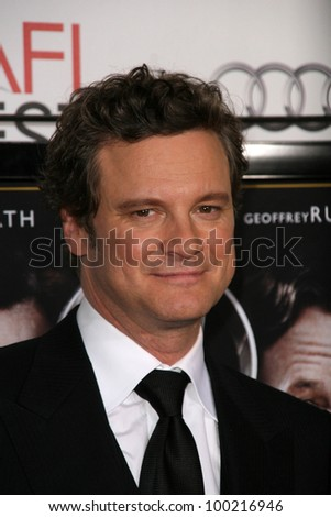 "Colin Firth at a screening of ""The King's Speech"" at AFI Fest 2010, Chinese Theater, Hollywood, CA. 11-05-10"