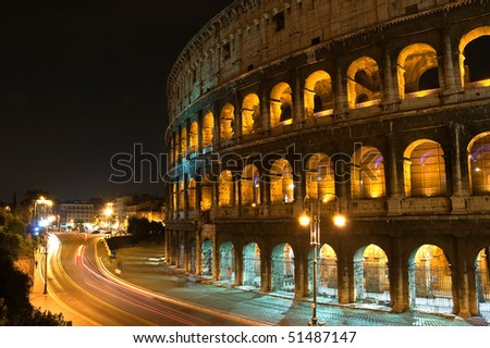 Coliseum of Rome by night, Italy