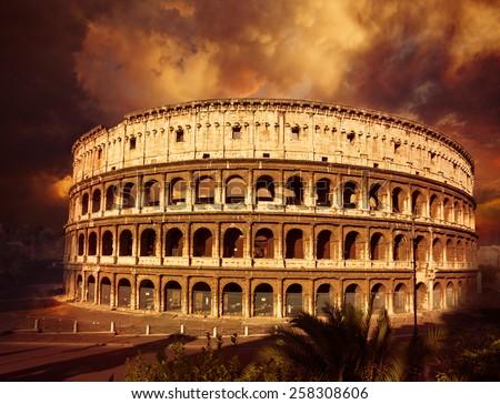 Coliseum. Rome. Italy. - stock photo