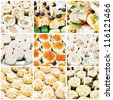 Collage about food - stock photo