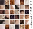 collage, Hair Colors Set - stock photo