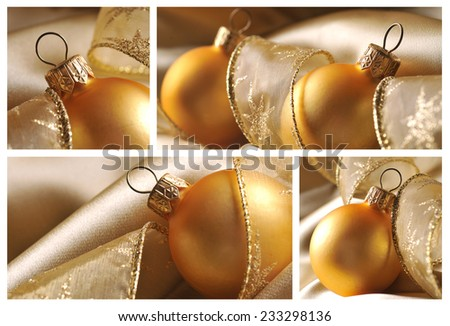 Collage of christmas ball - stock photo