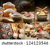 Collage of different types of muffins no. 3 - stock photo