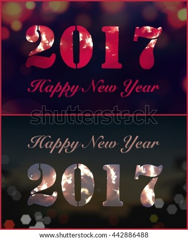 collage of greeting cards happy new year 2017 abstract background new years eve