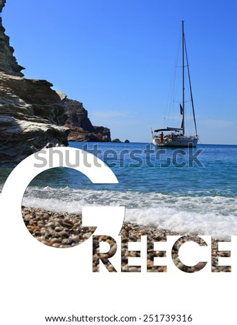 Collage of images from Greece - stock photo