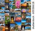 Collage of images of Sri Lanka - stock photo