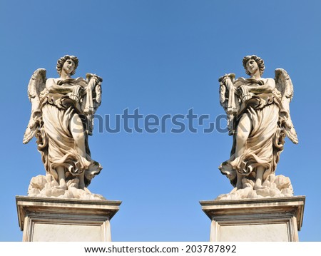 Collage of Italian architecture in Rome, Italy - stock photo