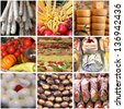 Collage of italian typical food - stock photo