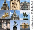 Collage of landmarks of Dresden, Germany - stock photo