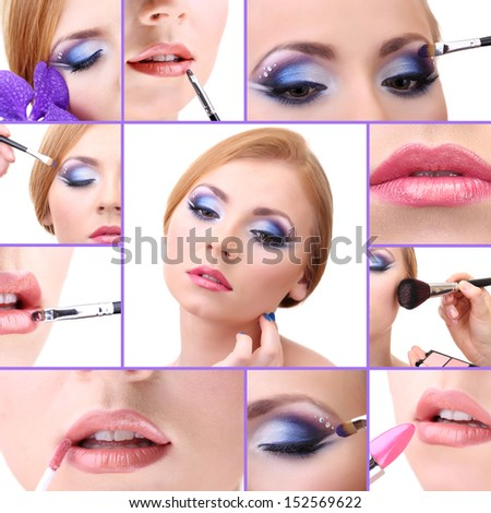 Collage of make-up
