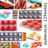Collage of medicines - stock photo