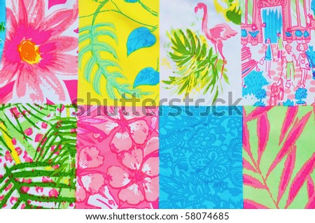 Collage of tropical designs - stock photo