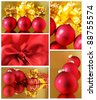 Collage of various Christmas decorations. - stock photo