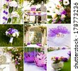 collage of wedding accessories - stock photo