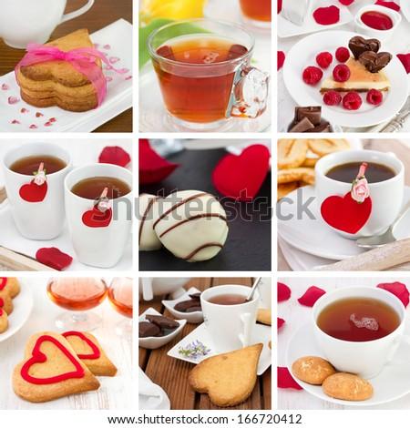 collage Valentines day - stock photo