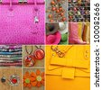 collage with  women accessories, Italy, Europe - stock photo