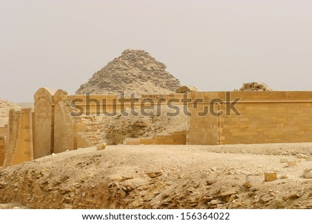 Collapsed damaged wall - stock photo