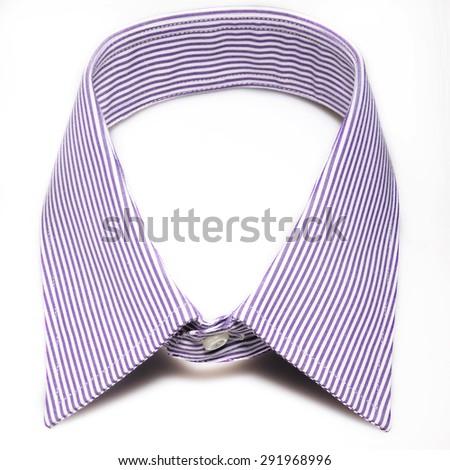 collar shirt stripes isolated - stock photo