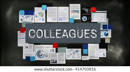 Colleagues Alliance Cooperation Support Team Concept - stock photo