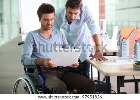colleagues at work - stock photo