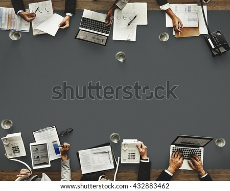 Colleagues Seminar Occupation Teamwork Office Concept - stock photo