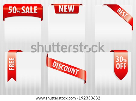 Collect Sale, Discount, Best Tags Labels, element for design, illustration - stock photo