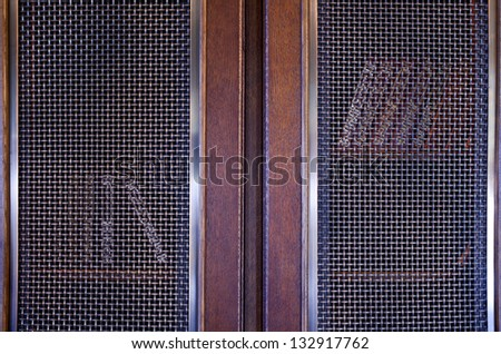Collection  books on a beautiful wooden  shelf. - stock photo
