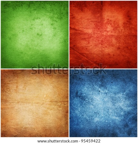 collection color vintage background - stock photo