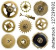 collection machine gear  - stock photo