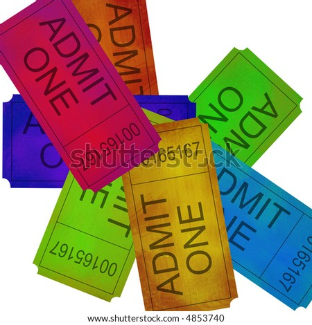 Collection of admittance ticket