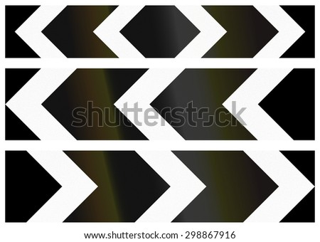 Collection of Bangladeshi chevron alignments pointing to the left and right and both sides - stock photo