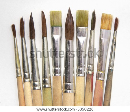 collection of brushes,