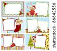 Collection of Christmas greetings cards, postcards or photo frames - stock photo