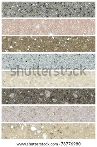 Collection of close up shots of a marble - stock photo