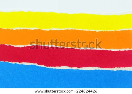 collection of colorful torn papers - stock photo