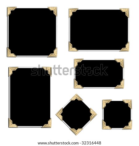 Collection of empty photos in different shapes - stock photo