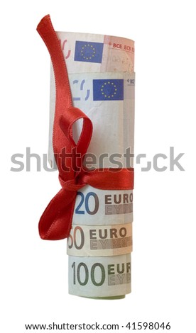 collection of euros as a gift