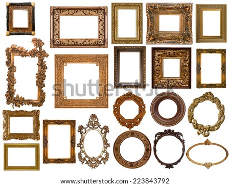 collection of frames for pictures - stock photo