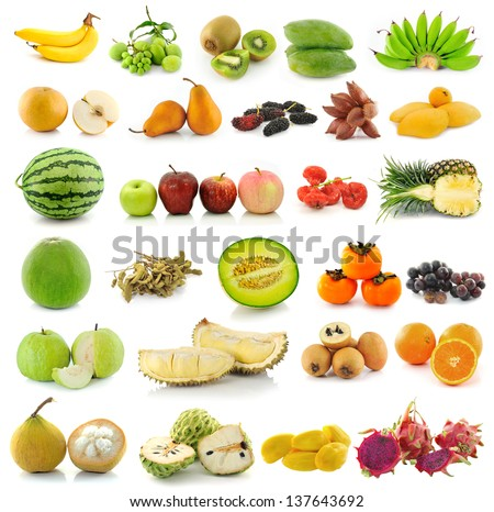 collection of Fruits - stock photo