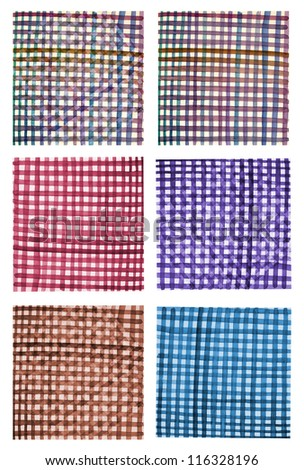 Collection of geometric fabric - stock photo